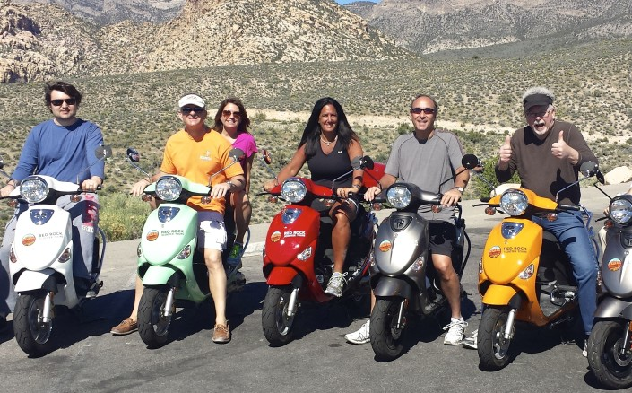 Group of Riders having fun in their Red Rock Canyon Tour