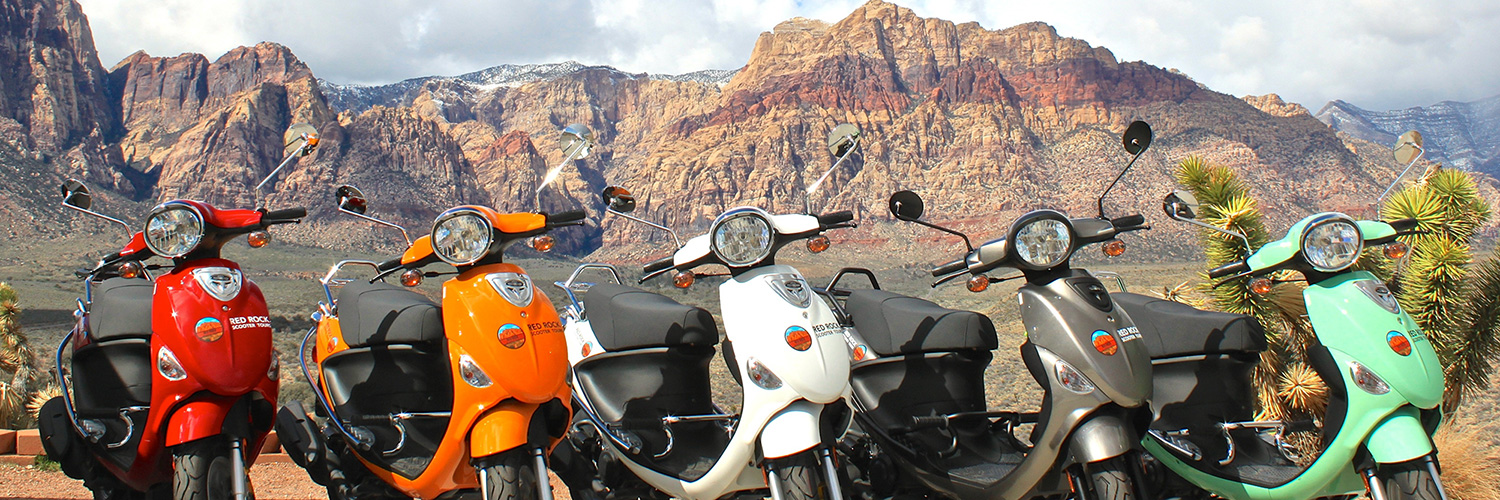 Nice scooters in the Red Rock Canyon
